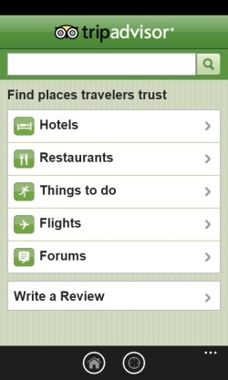 tripadvisor windows phone 7