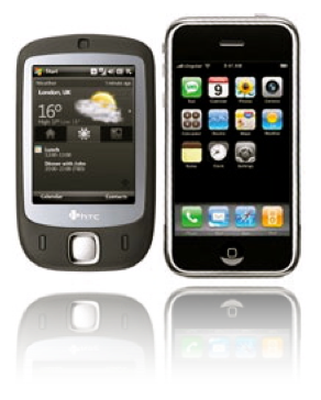 iPhone vs HTC año 2007