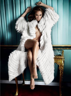J-Lo angers animal rights group by posing in a fox fur coat