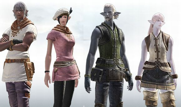Japanese site updates on Final Fantasy XIV races