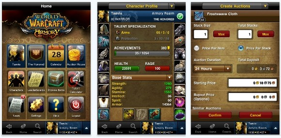 Massively mobile iphone apps for world of warcraft gumiabroncs Choice Image