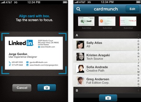 Cardmunch app adds linkedin profiles colourmoves Images