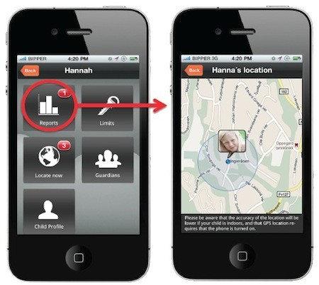 can an iphone be tracked parent iphones can track non iphones with mobilekids 16754