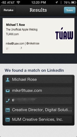 Five apps for business card scanning reheart Image collections