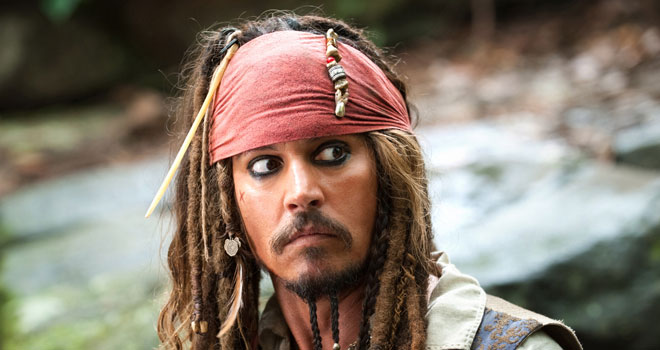 Johnny Depp in 'Pirates of the Caribbean: On Stranger Tides'