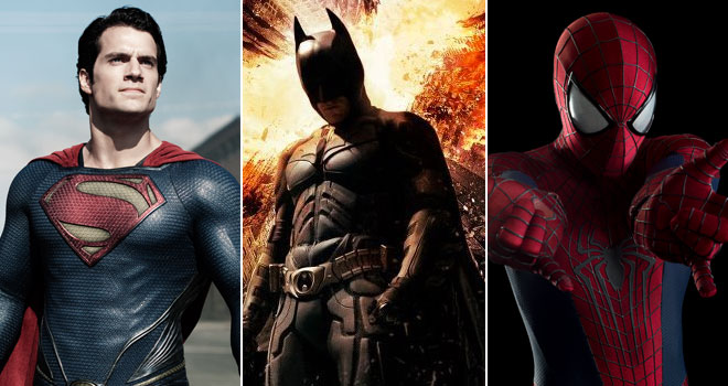 Superman, Batman, and Spider-Man