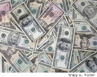 pile of money to pay utility bills
