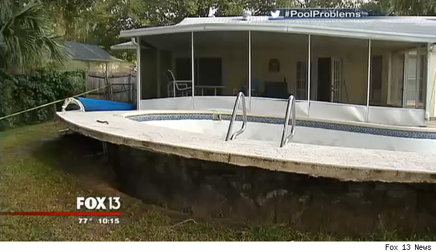 Swimming Pool Pops Above Ground Leaving Florida Family