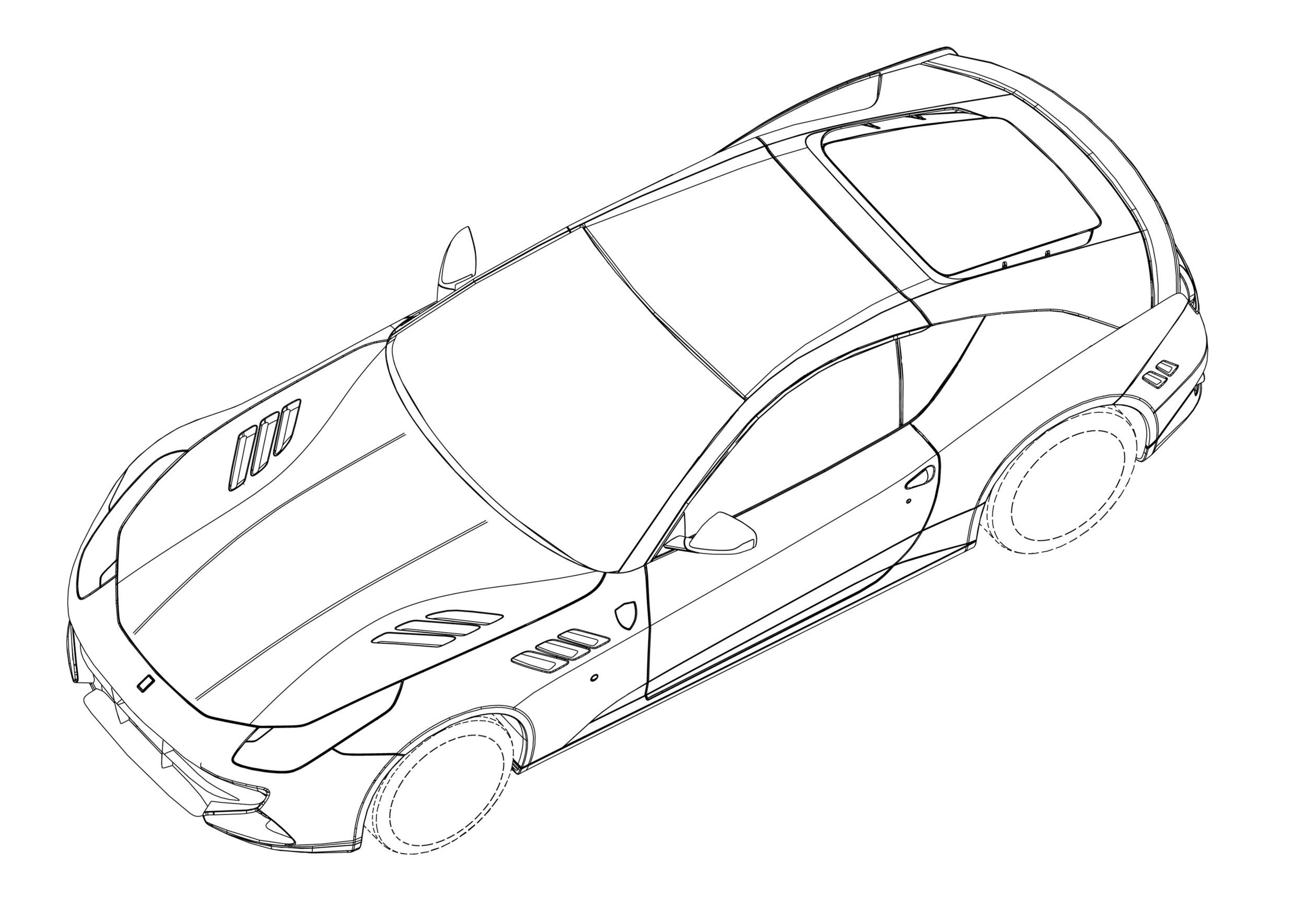 ferrari ff coupe patent drawings photo gallery autoblog 2019 Ford Ranger
