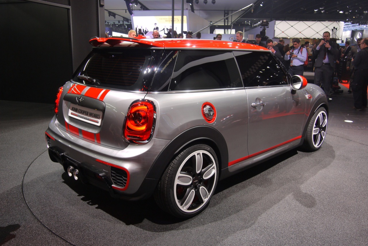 a sportier f56 the john cooper works concept north american motoring. Black Bedroom Furniture Sets. Home Design Ideas