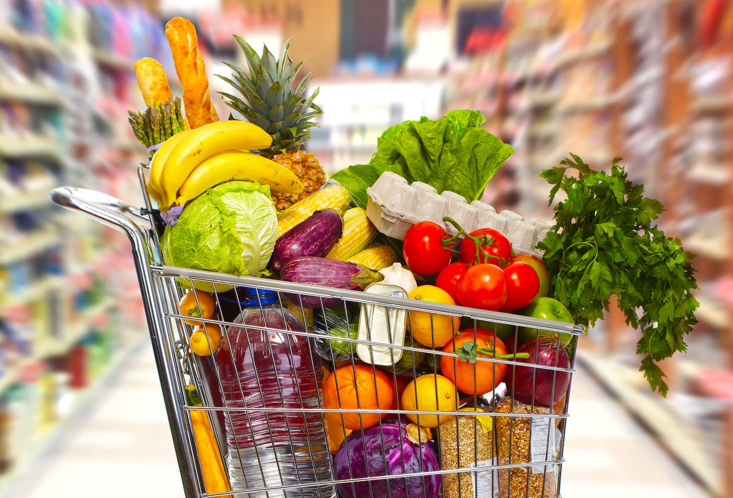 How Much Food Can Fit In A Grocery Cart