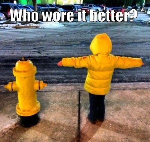 Funny Photos, Funny Pics, Fire Hydrant Kid Who Wore It Better