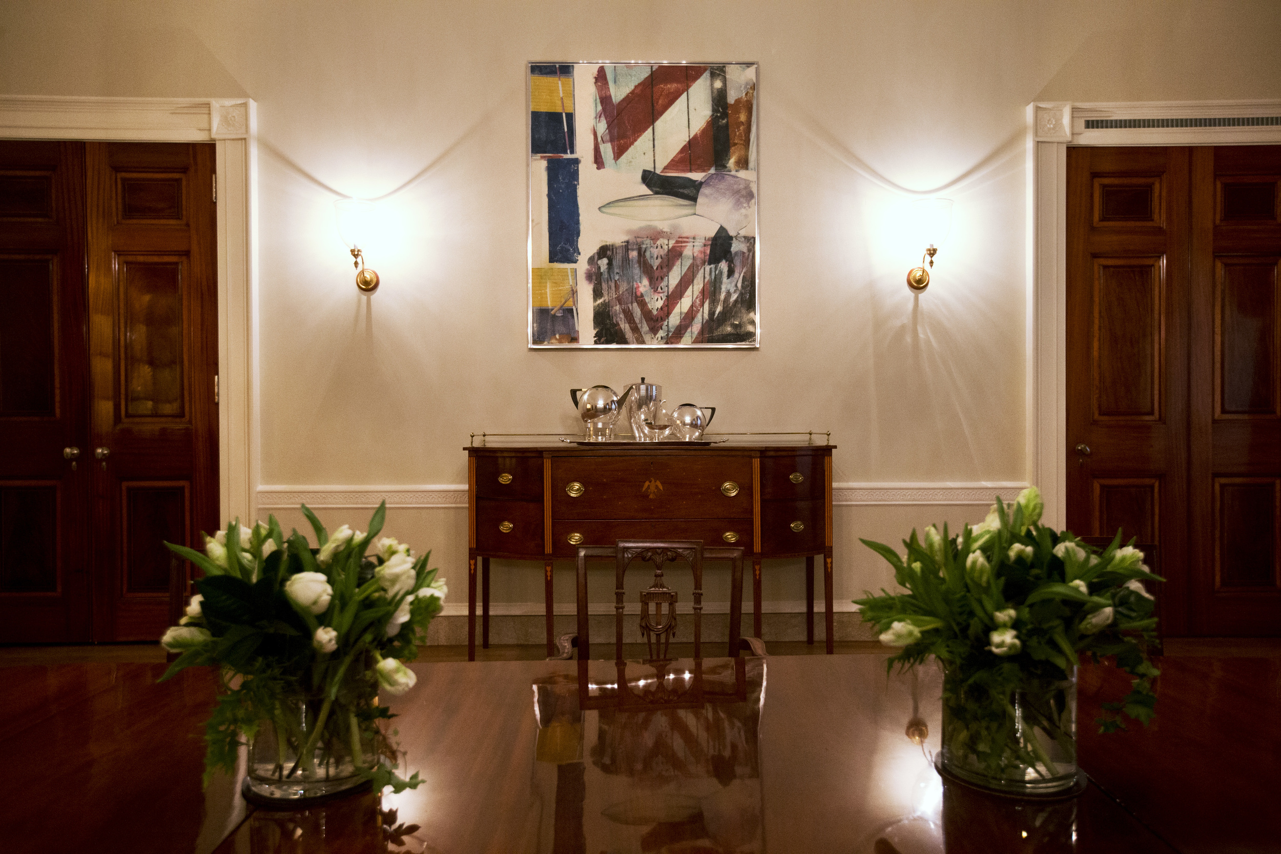 White House Family Dining Room Unveiled Aol News