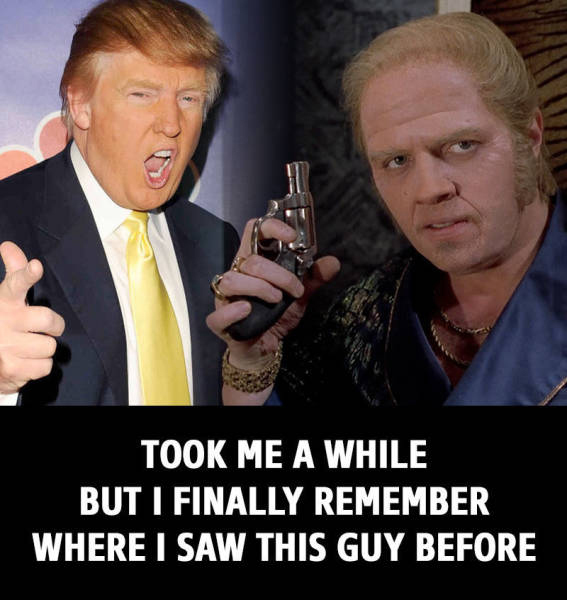 The Funny Meme Funny Photos Donald Trump Biff Back To The Future