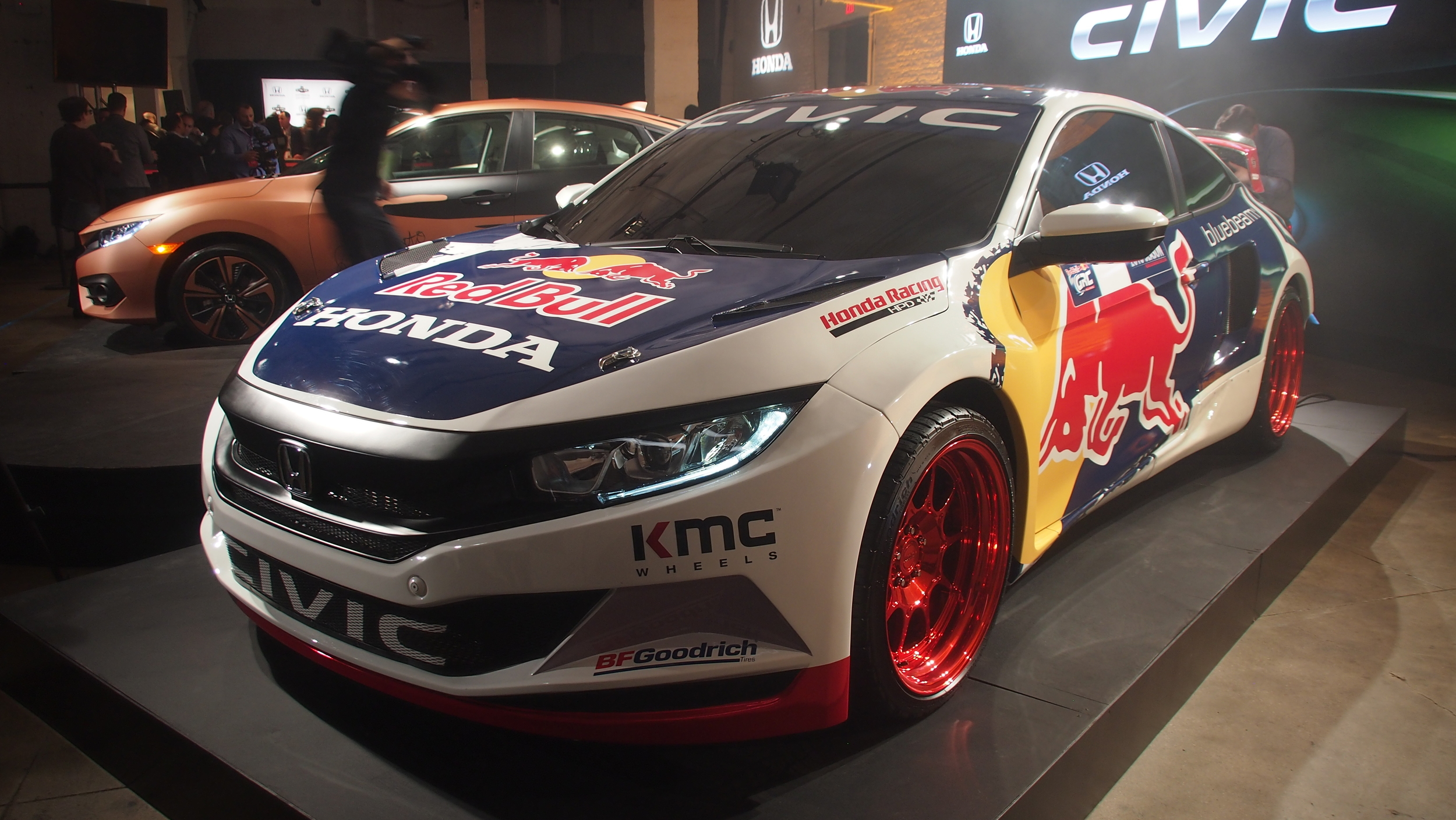 2016 honda civic coupe red bull global rallycross race car debuts in - Check Out The Honda Civic Coupe Global Rallycross Racecar 10th Gen Civic Forum
