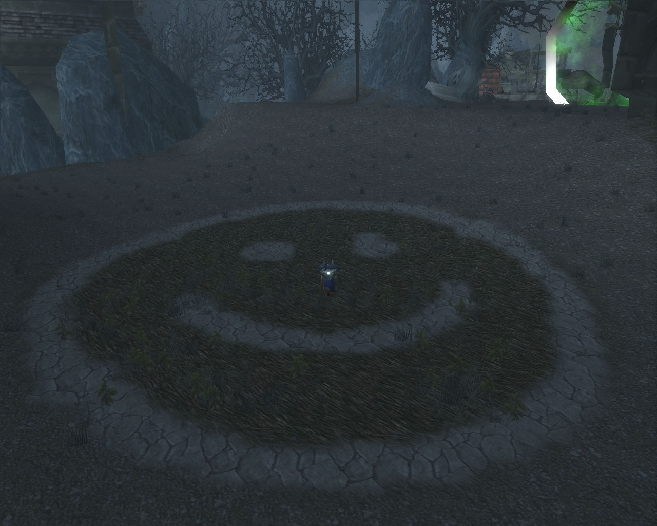 -There is a huge smiley face ...