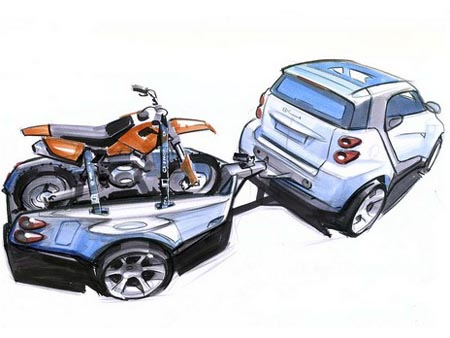 smart fortwo concept trailers prove fortwo will tow the line autoblog. Black Bedroom Furniture Sets. Home Design Ideas