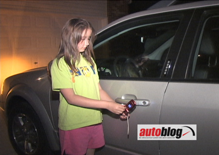 video autoblog shows how to unlock your car with a cell phone autoblog. Black Bedroom Furniture Sets. Home Design Ideas