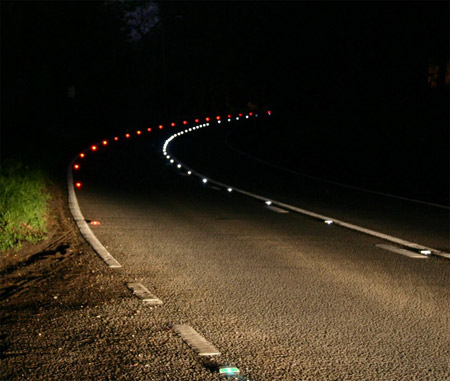 Solar Powered Led Road Markers Could Light Future Roadways