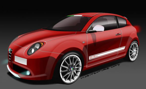 body painting world cup alfa romeo mito white. Black Bedroom Furniture Sets. Home Design Ideas