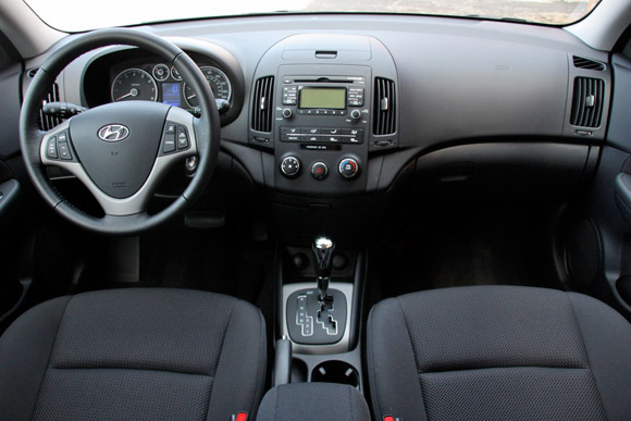 The Controls Are Logical And Fit Elantra S No Nonsense Demeanor Stereo On Top Hvac Below Just Two A Few Larger