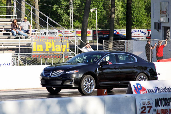 Racing A Lincoln Mks Ecoboost At Milan Dragway Wvideo Autoblog
