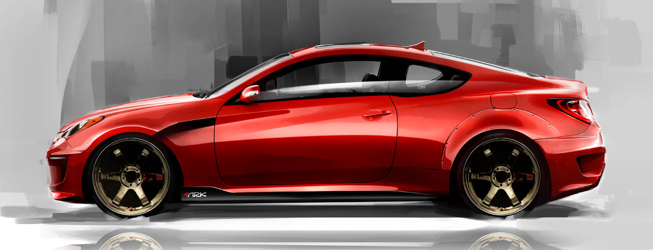 Hyundai Certified Pre-Owned >> ARK Performance Hyundai Genesis Coupe Sketches Photo ...