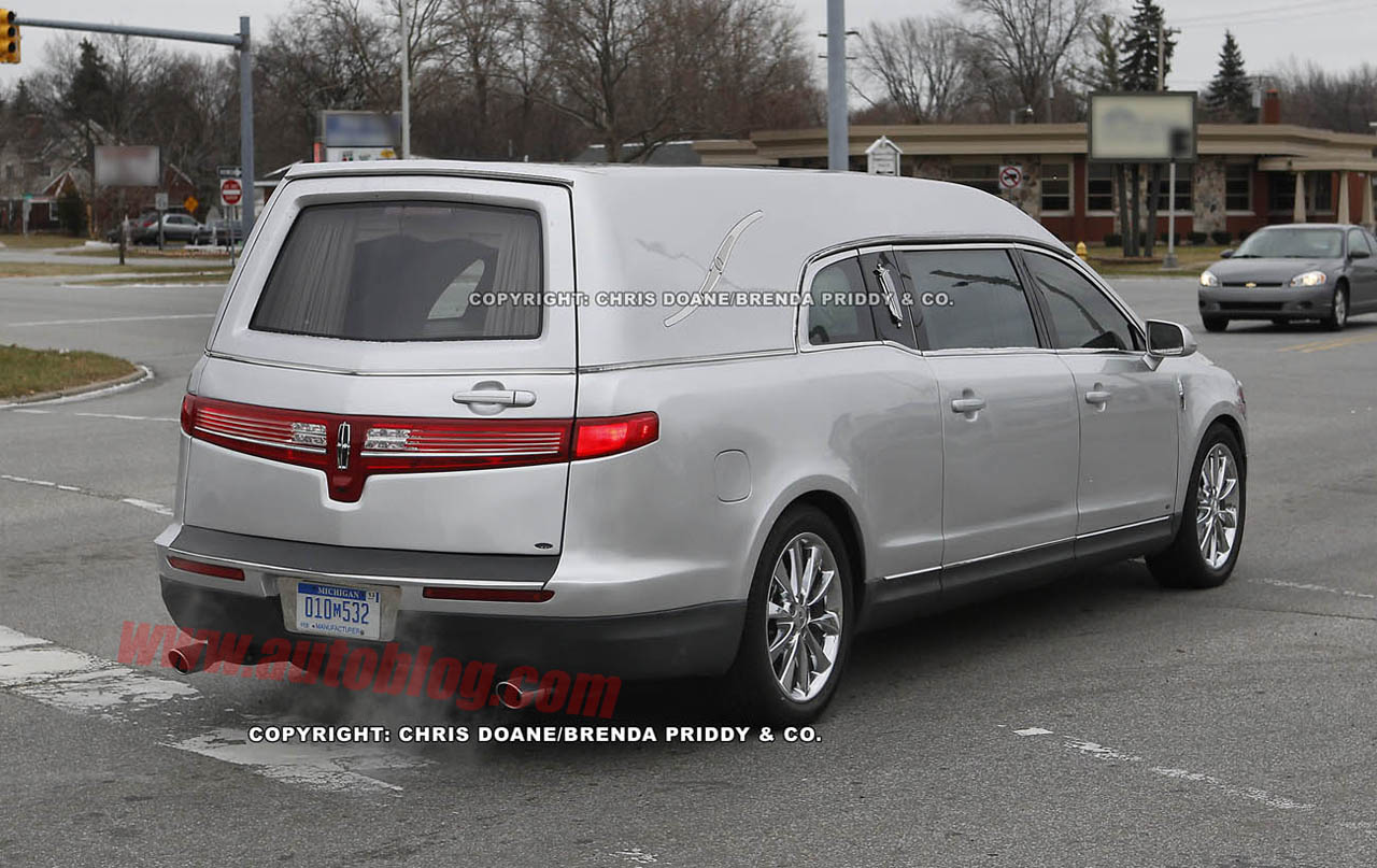 Spy Shots Lincoln Mkt Hearse Looks To Be One Swanky Final Ride
