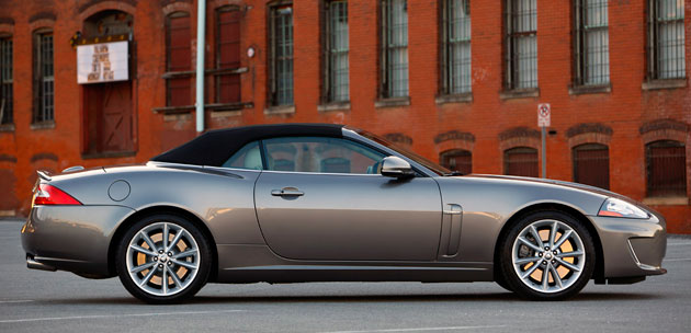 2017 Jaguar Xkr Convertible Top Up Side View