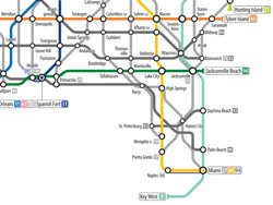 As A Subway Map.New Art Reimagines U S Road Network System As A Subway Map Autoblog