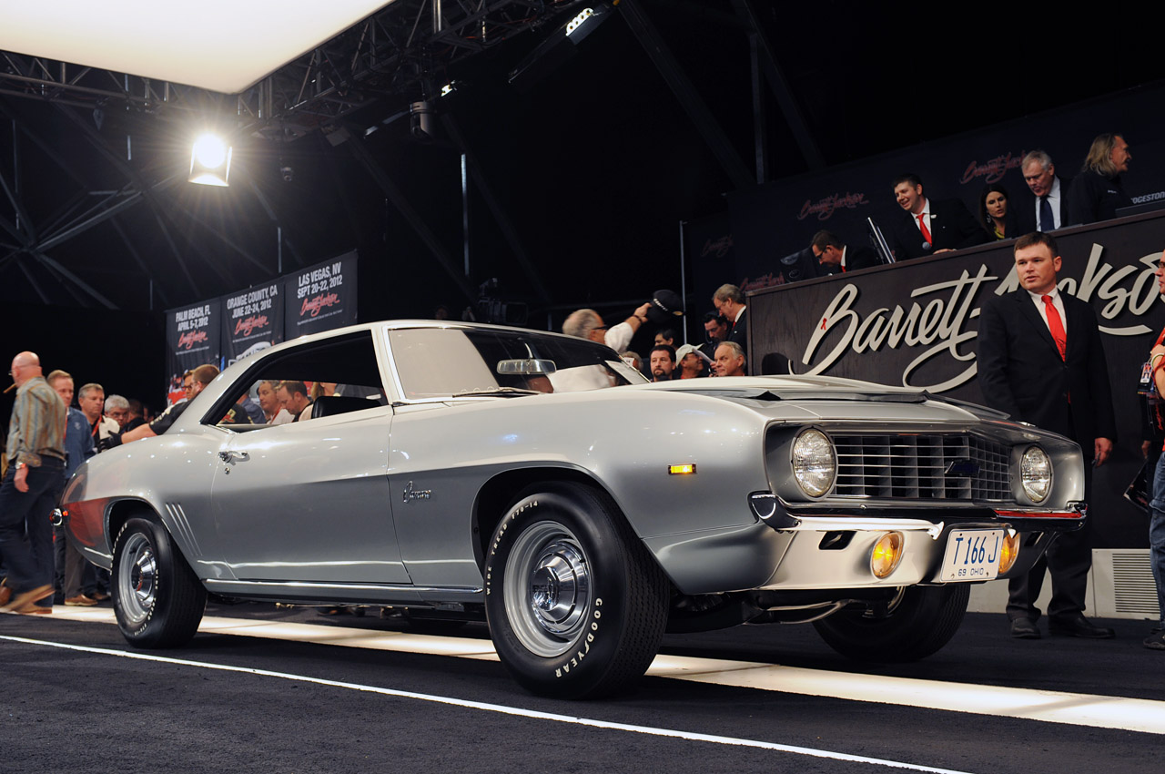 Camaro Insurance Cost >> Barrett-Jackson 2012: 1969 Chevrolet Camaro ZL1 races across the auction block [w/video] - Autoblog