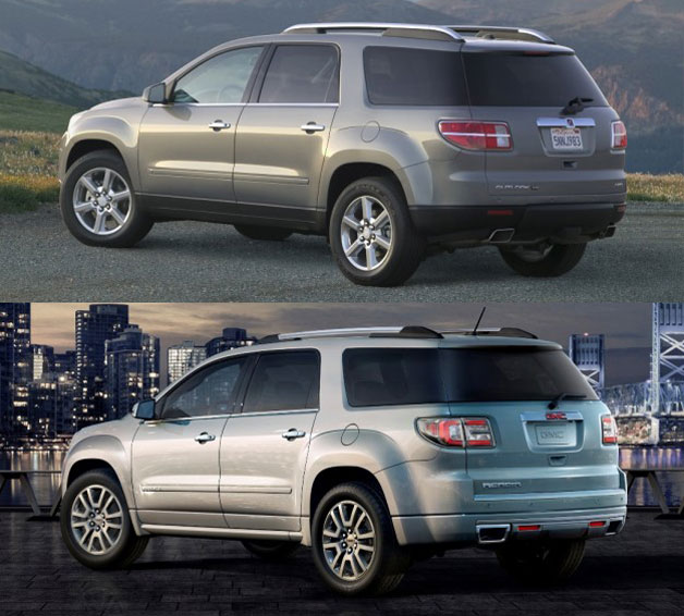 official buick enclave chevrolet traverse gmc acadia saturn outlook. Black Bedroom Furniture Sets. Home Design Ideas
