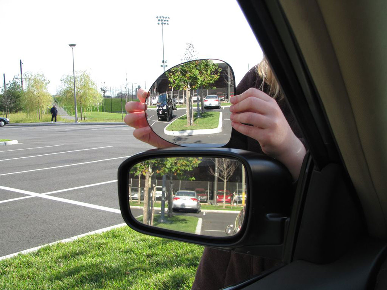 Disco Ball Inspired Side View Mirror Eliminates The Blind