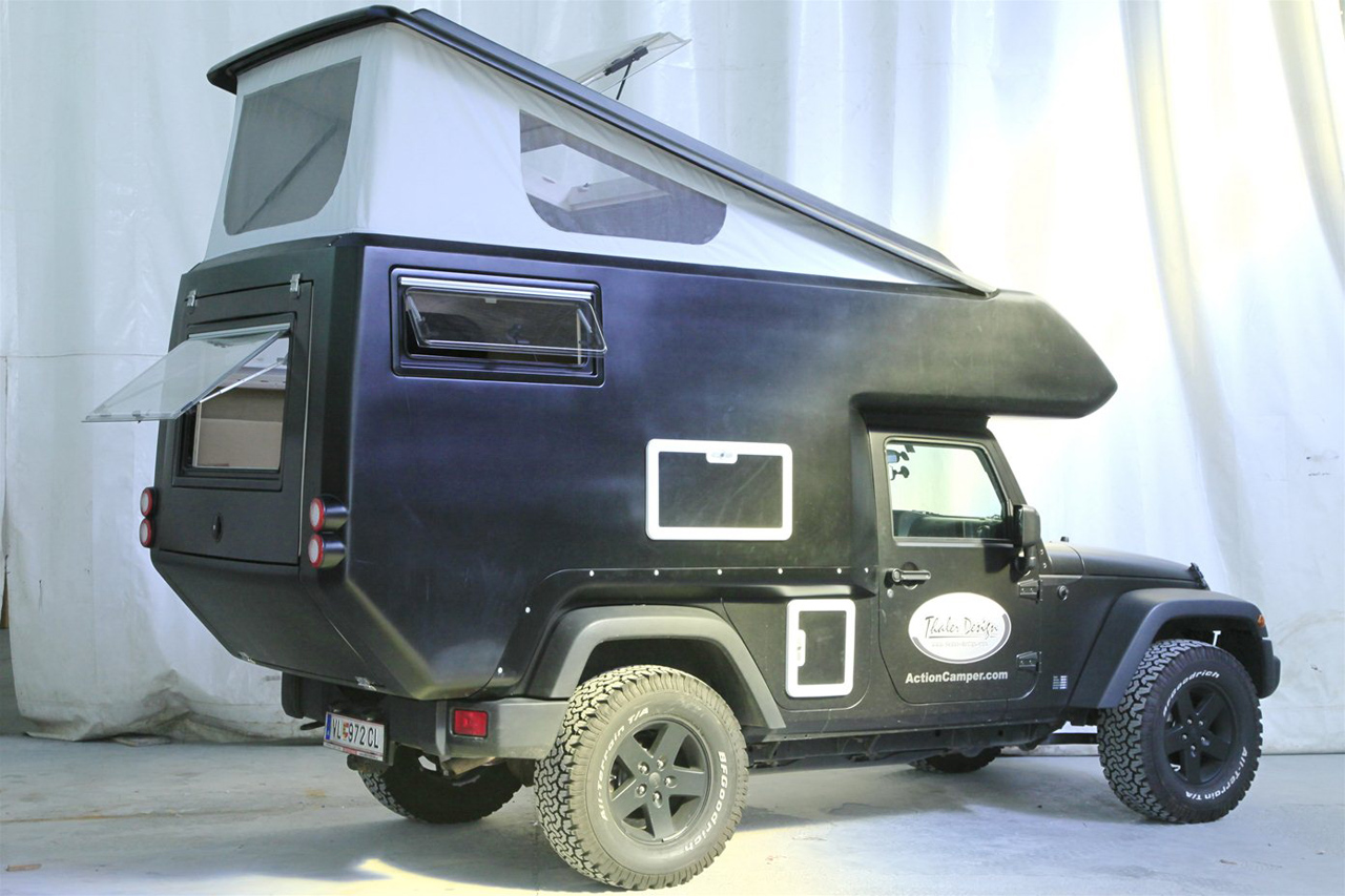 Jeep Wrangler Unlimited Soft Top >> Jeep Wrangler ActionCamper by Thaler Design Photo Gallery ...