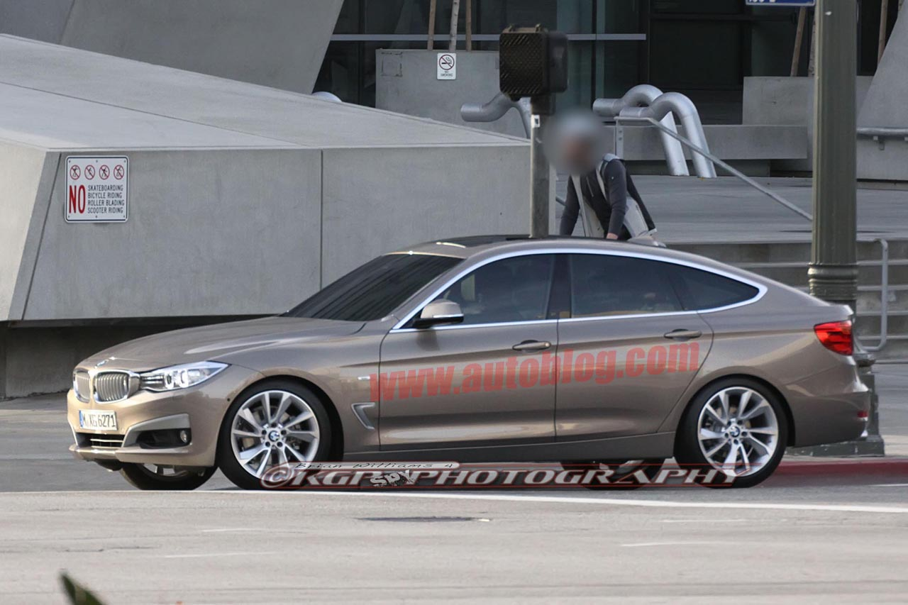 bmw 3 series gt caught uncovered filming commercial autoblog. Black Bedroom Furniture Sets. Home Design Ideas