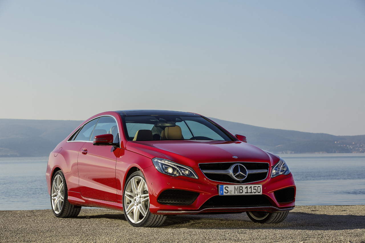 mercedes benz reveals freshened 2014 e class coupe and convertible autoblog. Black Bedroom Furniture Sets. Home Design Ideas
