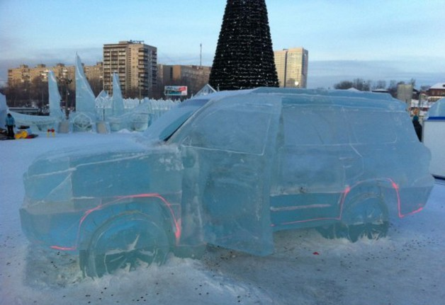 Ice Sculpture Car