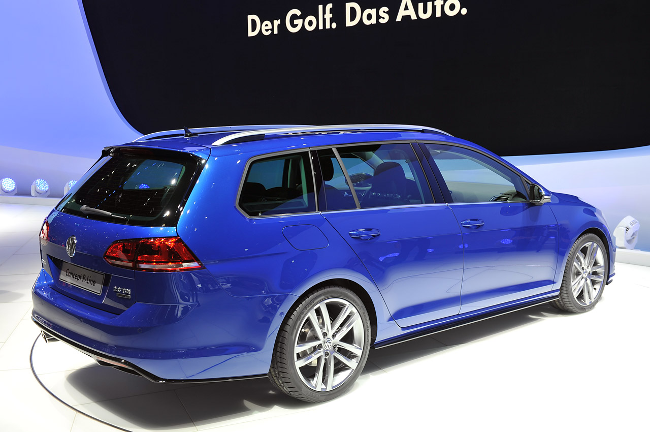 volkswagen golf variant concept r line puts the sport in. Black Bedroom Furniture Sets. Home Design Ideas