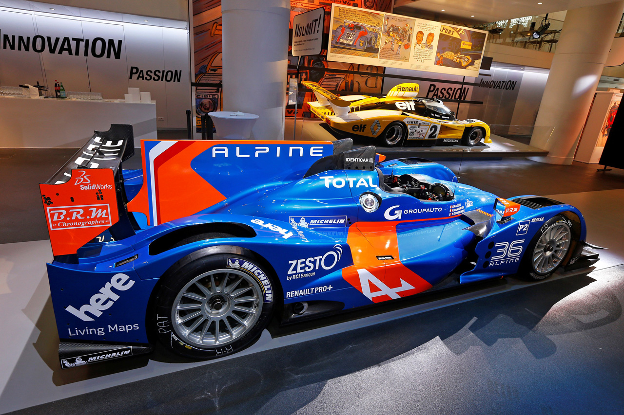 alpine unveils n36 lmp2 car that will race in 24 hours of le mans autoblog. Black Bedroom Furniture Sets. Home Design Ideas