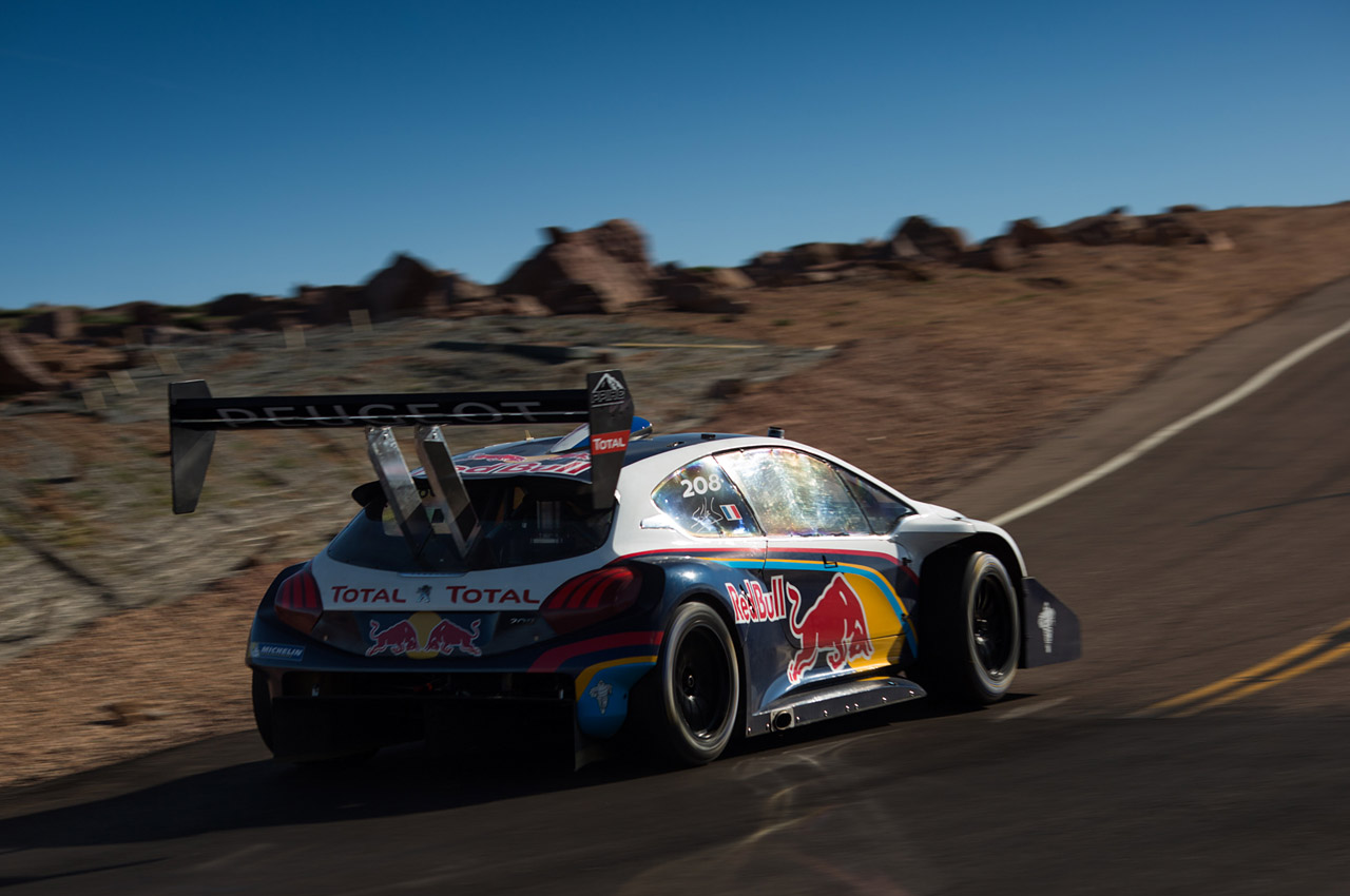Sebastien Loeb's Peugeot 208 T16 At Pikes Peak Photo