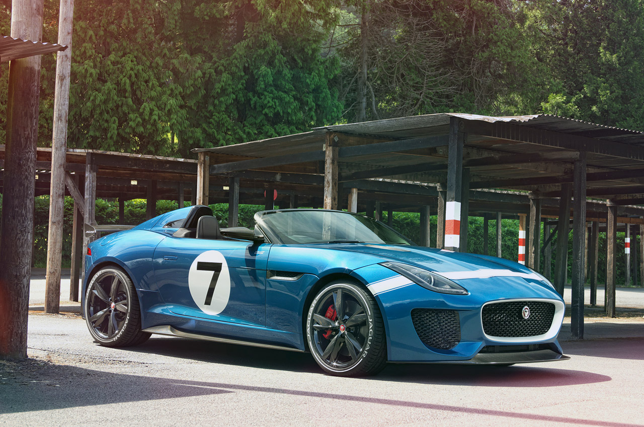 jaguar project 7 concept is an f type in a d type mold w video autoblog. Black Bedroom Furniture Sets. Home Design Ideas