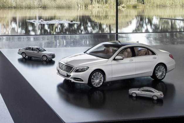 mercedes drastically reduces size of s class with new model cars. Black Bedroom Furniture Sets. Home Design Ideas
