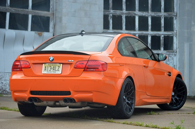 2017 Bmw M3 Coupe Lime Rock Edition Rear 3 4 View