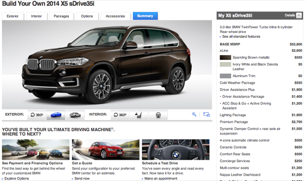 Official 2014 Bmw X5 Configurator Goes Live Autodepot