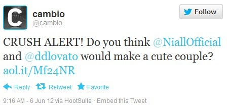 they think niall and flirt demi