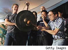 Zuckerberg with employees