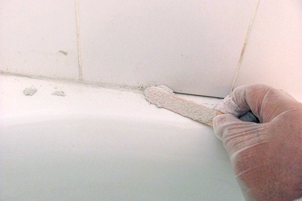 No more caulking use grout around your bathtub elisa - What uses more water bath or shower ...