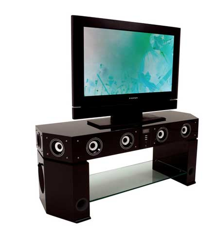Stand Out With Evesham S Speakerful Tv Stand