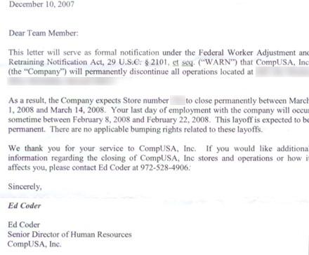 Layoff Letter To Employee  BesikEightyCo