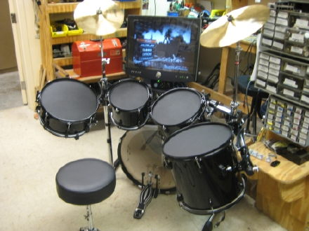 use real drums as rock band drum controller how meta. Black Bedroom Furniture Sets. Home Design Ideas